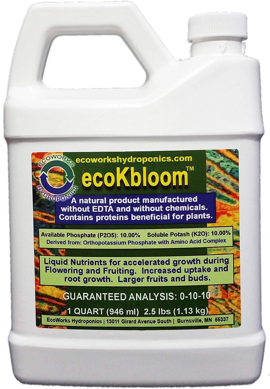 Genuine EcoWorks Hydroponics Quart ecoKBloom Animer and price revision