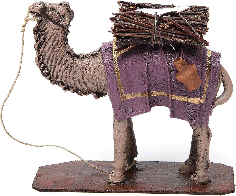 Holyart Standing Camel with Load mart Scen Nativity for Regular store in Terracotta
