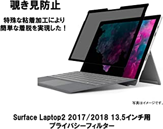 【Surface Laptop1/2/3 2017/2018/2019対応】 13.5インチ 画面比率3:2 対応 着脱式 プライバシーフィルター ブルーライトカット 反射防止[覗き見防止2方向]