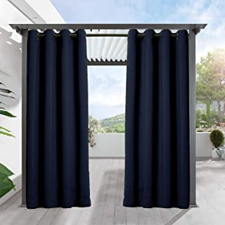 Cottontree Homesoft Outdoor Decor Antique Bronze Grommet Curtains/Drapes Panels for Patio,Front Porch,Gazebo with Rope Tieback, 100