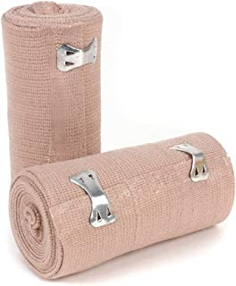 """Ever Ready First Aid 4"""" Elastic Bandage with Clips - Box of 10"""