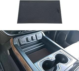 JKCOVER Secret Compartment Cover Compatible with 2014 2015 2016 2017 2018 GMC Sierra 1500 2500HD 3500HD Denali Chevy Silverado Hidden Center Console Organizer Tray Accessories