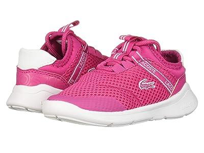 Lacoste Kids Lt Dash 119 1 SUI (Toddler/Little Kid) (Dark Pink/White) Girl
