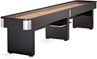Brunswick Delray II 12-Foot Shuffleboard Table with 8 pucks, Abacus Scorer and Leg Levelers. Includes Table Brush and Wax.