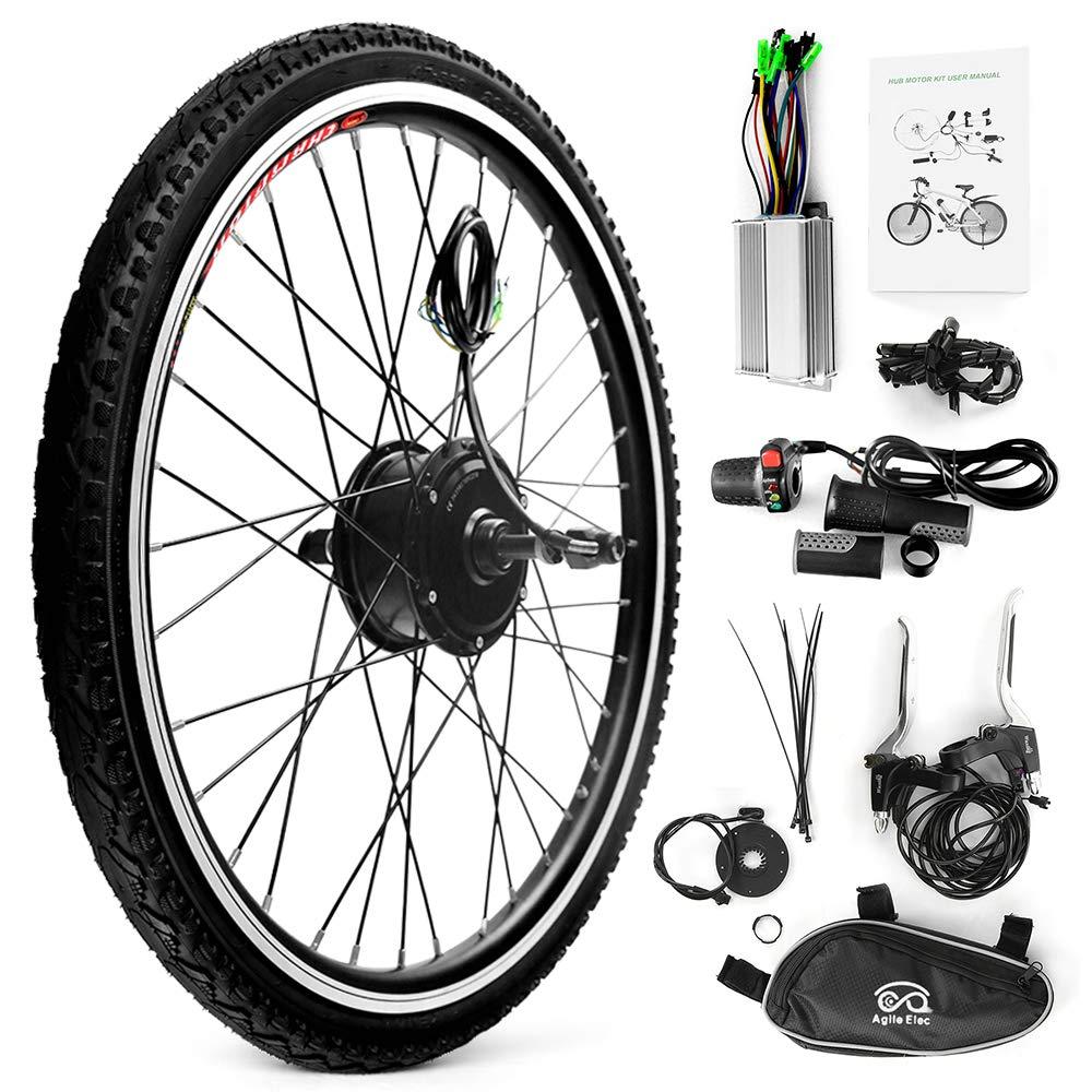 Walmeck- Bicicleta eléctrica Rueda Trasera Disco de Freno Buje Kit de Motor 36V 250WControlador Velocidad del Pulgar Señal de aceleración Luz de Bicicleta Juego de Cambio de Freno: Amazon.es: Deportes y aire