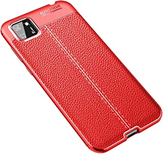 Allcecase Phone Cases Covers For For Huawei Y5P Litchi Texture TPU Shockproof Case(Black) (Color : Red)