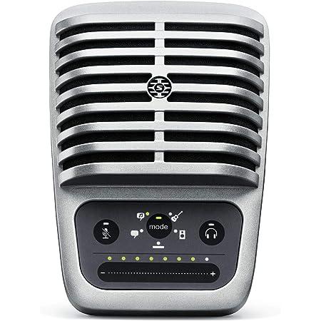 Shure MV51 Microfono Digitale A Condensatore Con Diaframma Largo, Usb E Cavo Lightning, Argento, Vecchia Confezione