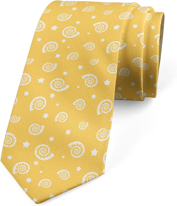 Ambesonne Men's Tie, Stars and Mollusk, Necktie, 3.7