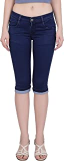 Forth Women's Stretchable Skinny Fit Denim Capri