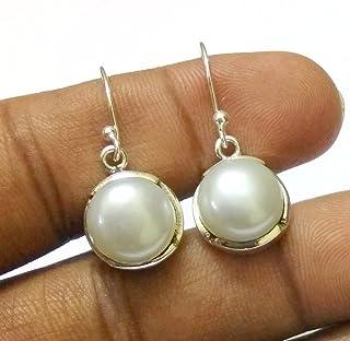Kanika Jewelry Trove Handmade Freshwater Pearl Silver Dangle Earrings