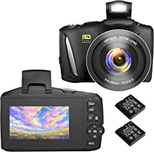 Sponsored Ad – Digital Camera Vlogging Camera 2.7K Full HD Compact Camera 48 Mega Pixels Digital Cameras with 3 Inch Scree...