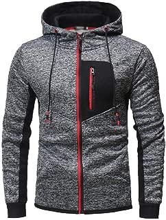 Mens Hoodie Sweatshirt Jumper Flower gray slim stitching sports casual fashion cardigan zip Up Top