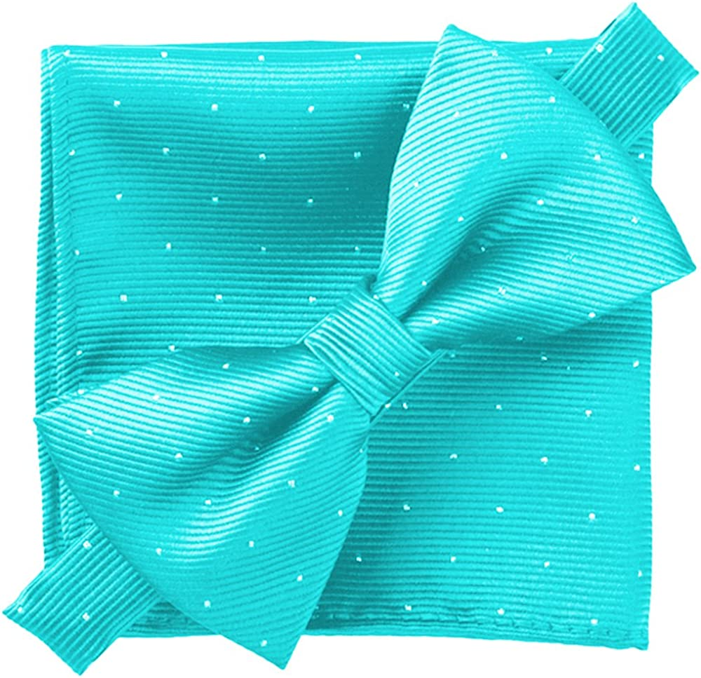 Flairs New York Gentleman's Essentials Neck Tie, Bow Tie and Pocket Square Matching Set