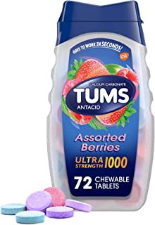 Tums Ultra Strength 1000 Antacid, Assorted Berries, 72 tablets