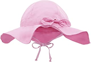 Baby Sun Hat with UPF 50+ Outdoor Adjustable Beach Hat with Wide Brim