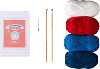 Knit Picks Learn to Knit Club: The Scarf - Beginner Knitting Kit (Bright)