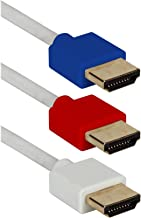 QVS Shielded HDMI with Ethernet Cable White (HDT-6F-3PM)
