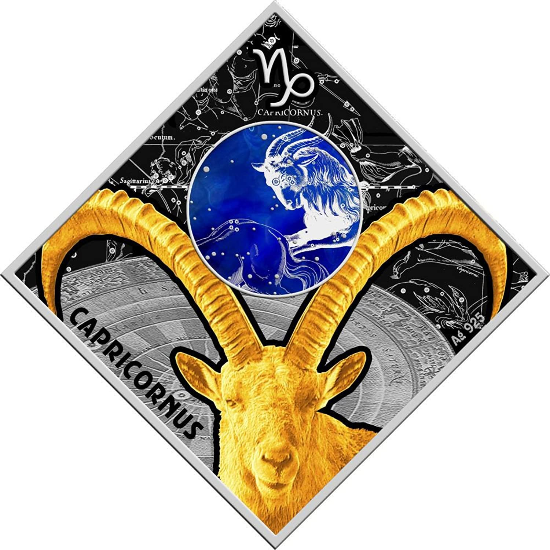 Power Coin Capricorn Zodiac Signs Silber Münze 100 Denars Macedonia 2018