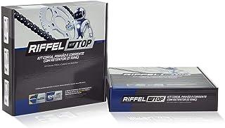 Kit Relação Transmissão Yamaha YZF R3 2016 / MT-03 2016 até 2017 com Retentor (O-ring) TOP Aço 1045 Riffel 91189