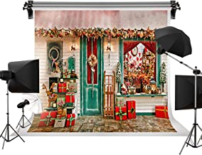 Kate 7x5ft/2.2m(W) x1.5m(H) Christmas Photography Background Xmas Storefront Cottage Decorations Backdrop Christmas Shop Window Backdrops Props