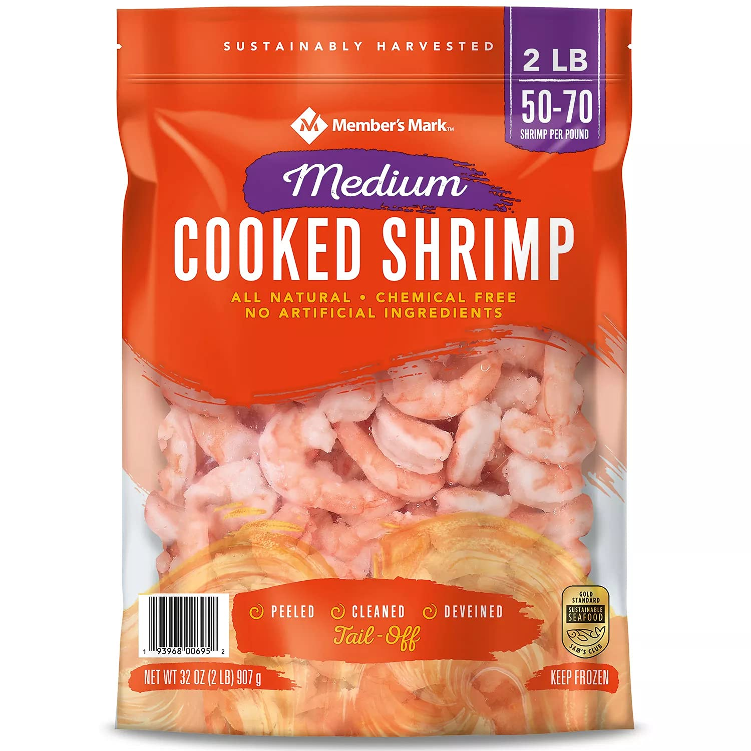 Cooked Shrimp Medium Tail Off Fat Free b 2 lb. Chemical Manufacturer regenerated 35% OFF product and
