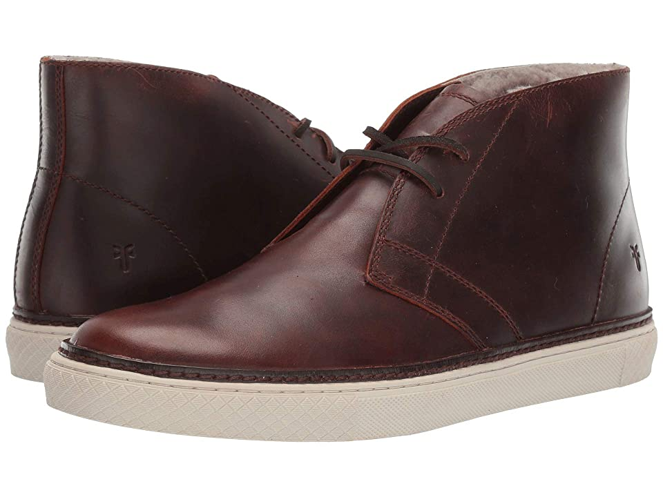 Frye Essex Chukka (Dark Brown WP Smooth Pull-Up/Shearling) Men