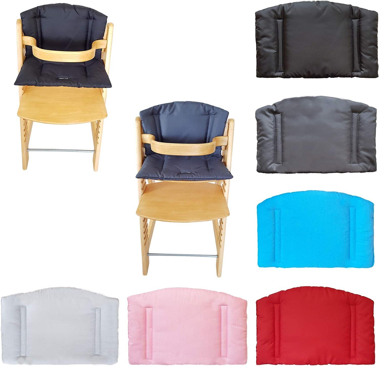 Aveanit Funda de almohada compatible con asiento para Stokke Tripp Trapp con respaldo alto gris - algod/ón