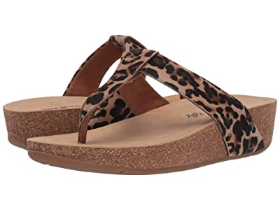 Paul Green Aries Thong Sandal (Leopardino Camel Combo) Women