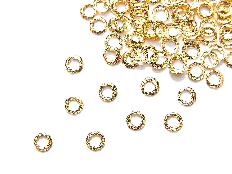 ひまわり妖精分離する【jewel】ug18 ゴールド 薄型メタルパーツ ツイストリング Sサイズ 10個入り ネイルアートパーツ レジンパーツ