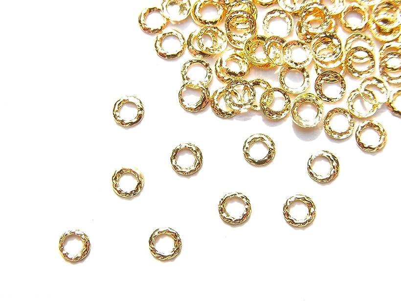 クローンポルノ障害【jewel】ug18 ゴールド 薄型メタルパーツ ツイストリング Sサイズ 10個入り ネイルアートパーツ レジンパーツ