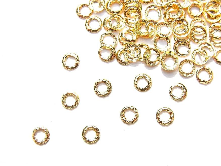 壊滅的なピストル傷跡【jewel】ug18 ゴールド 薄型メタルパーツ ツイストリング Sサイズ 10個入り ネイルアートパーツ レジンパーツ