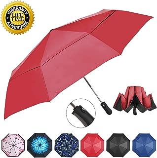 Prodigen Inverted Folding Umbrella Travel Umbrella Windproof Compact Umbrella Inside Out Umbrella Reversible Reverse Umbrella Automatic Open and Close Windproof Umbrella for Woman & Man UV Sun & Rain