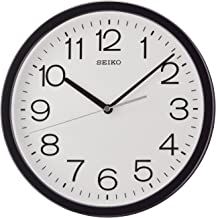 Seiko Plastic Wall Clock (31.1 cm x 31.1 cm x 3.9 cm, Grey)
