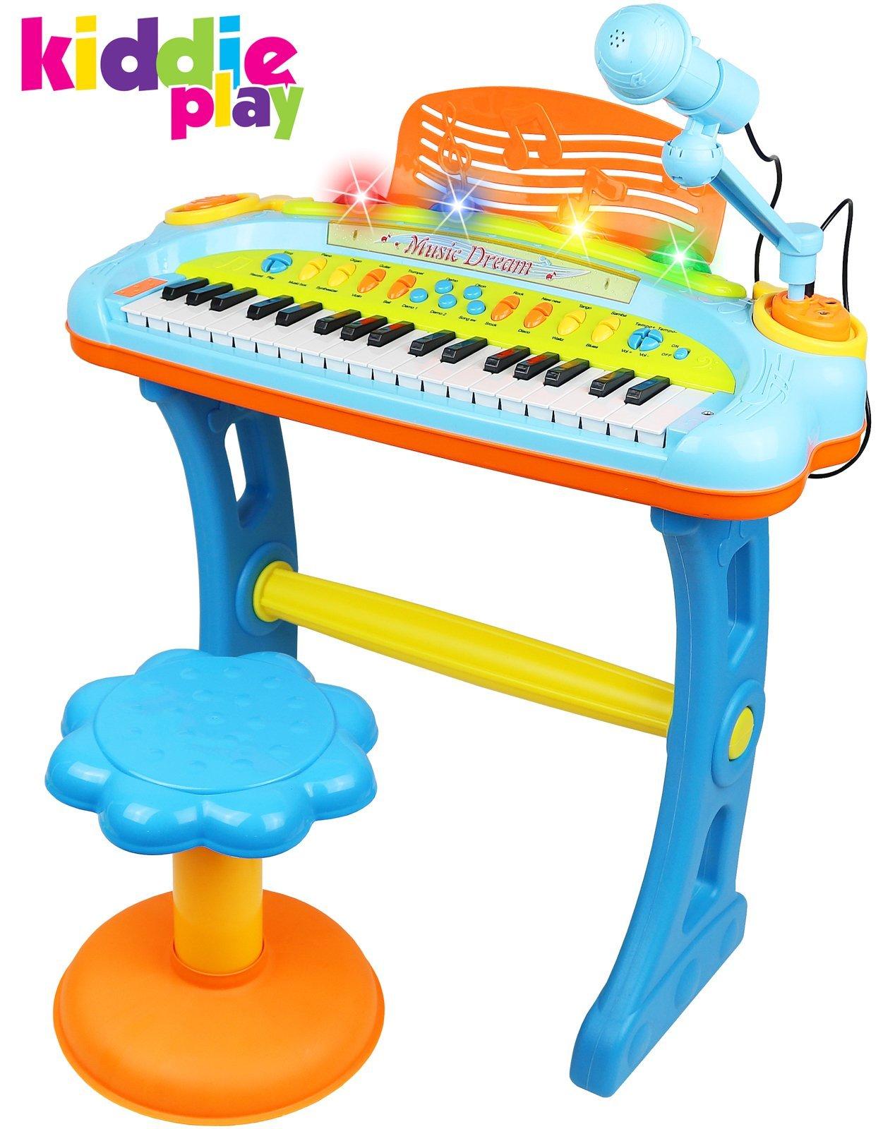 Kiddie Play Electronic Keyboard Microphone