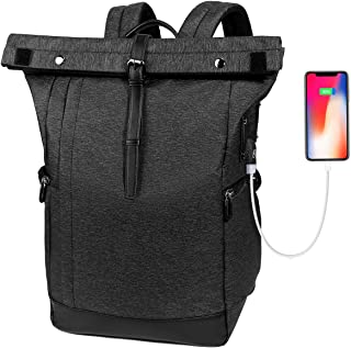 Laptop Backpack, Water Resistant College School Computer Bag for Men and Women with USB Charging Port, Anti Theft Travel B...