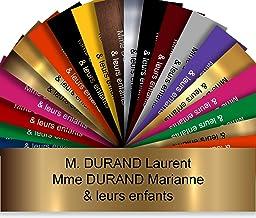 Zelfklevende pvc-brievenbusplaat, personaliseerbaar, 10 x 2,5 cm, 21 kleuren verkrijgbaar (mat-goud)