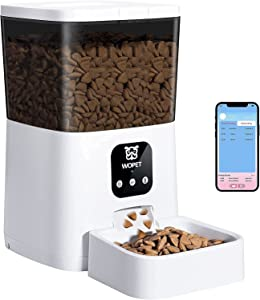 WOPET Automatic Cat Feeder,7L WiFi Enabled Smart Food Dispenser for Cats Dogs,App Remote Control and Up to 8 Meals per Day 10s Voice Recorder