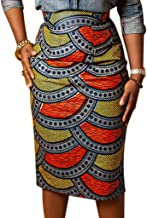 ankara high waist pencil skirt
