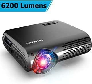 Projector, WiMiUS Upgrade 6200 Lumens Projector Native 1920x1080 Video Projector Support 4K Dolby Netflix 300'' Display, with 4D ±50° Keystone Correction, Zoom Function for Movies and PPT Presentation