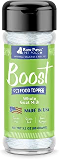 Raw Paws Boost Flavor & Nutrition Pet Food Toppers for Dogs & Cats - Made in USA - Grain-Free Pet Food Seasoning Sprinkles for Enhanced Flavor & Nutrition - Wet, Dry or Raw Pet Food Mixer
