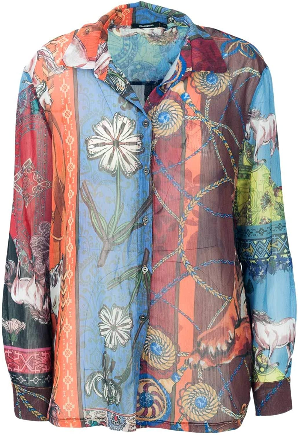 Desigual Women's 18WWCW74MULTI Multicolor Polyester Shirt