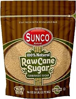 Sunco Natural Raw Sugar, Natural Raw Cane Sugar, Turbinado Sugar, Demerara Sugar Bulk, Pack of 1