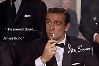 Engravia Digital Sean Connery 007 James Bond The Name's Bond…James Bond Reproduction Signed Poster Photo A4 Print(Unframed)