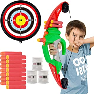 NextX Bow and Arrow for Kids - Archery Set Toys Outdoor Hunting Game with Suction Cups Arrows and Target