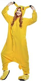 NEWCOSPLAY Unisex Adult Pikachu Pyjamas Halloween Onesie Costume