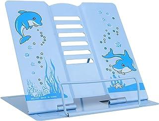 IWILCS läsbokstativ, bokstöd, bokstöd, läsplatta för barn vuxna ergonomisk bokhylla i metall multifunktionell bokhållare, ...