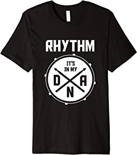 Drummer DNA Rhythm Percussion Marching Band Gifts Drums Premium T-Shirt