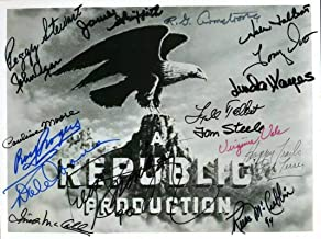 Republic Pictures Signed By 17 8x10 Photo Roy Rogers McCalla Agar - JSA Certified - Movie Photos