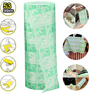 Disposable Bamboo Fiber Cleaning Wipes, Multi-Use Reusable Cloths, Kitchen disposable dish cloths