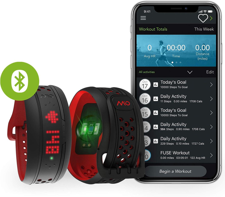 (Crimson, Large)  Mio FUSE Heart Rate, Sleep + Activity Tracker